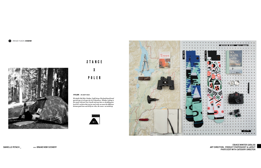 STANCE WINTER CATALOG: ART DIRECTION & LAYOUT