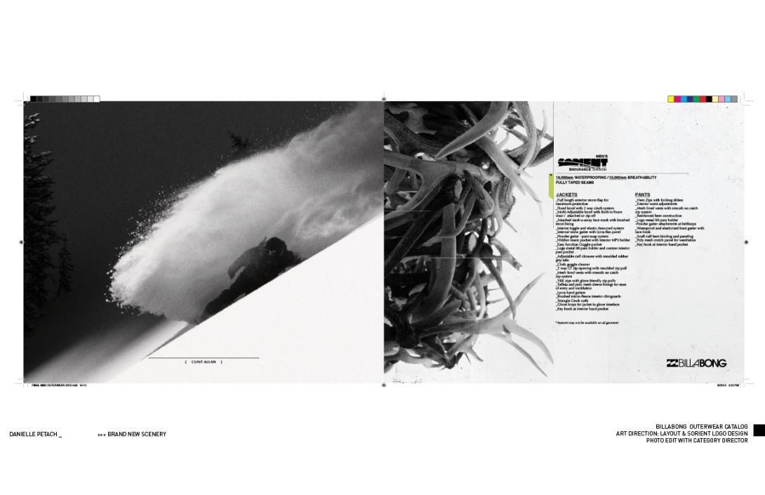 BILLABONG WINTER CATALOG: ART DIRECTION & LAYOUT
