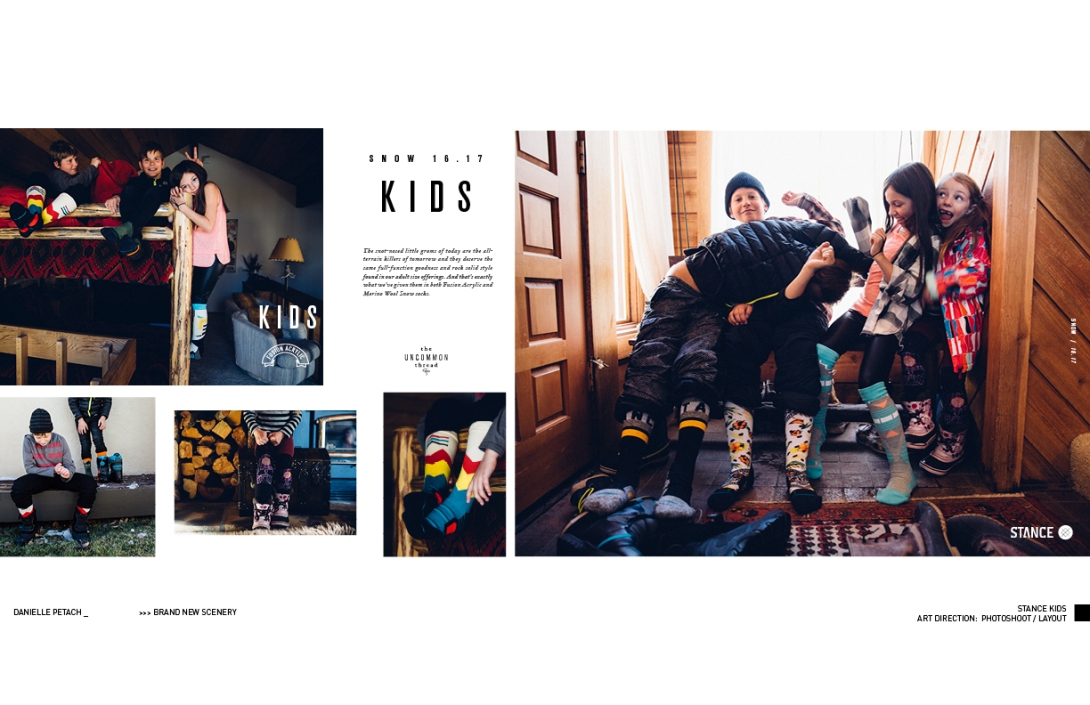 STANCE KIDS: ART DIRECTION & LAYOUT